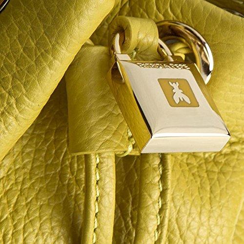 Patrizia Pepe Lock Fly Mini Bag sac monedero Bolso totes piel 15 cm amarillo