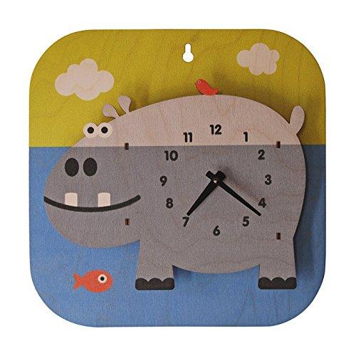 modern moose モダンムース アニマル スクエア 3D 壁掛け時計 (ペンギン) B00RBKGR6S ペンギン