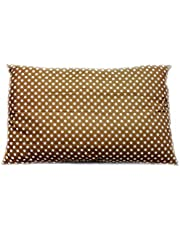 Soft Polycotton Pillow By Valentini, Brown, Queen size, 50 * 75 cm