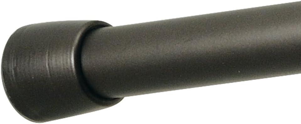 iDesign Barra para cortinas de ducha (127-221 cm), soporte para cortinas de baño de tamaño largo y de metal, barra telescópica extensible para instalar sin taladro, color bronce
