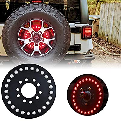 omotor for Jeep Spare Tire Brake Light fits 2007-2020 Jeep Wrangler JK JL Unlimited Rubicon Sahara Sport 2 Door or 4 Door: Automotive