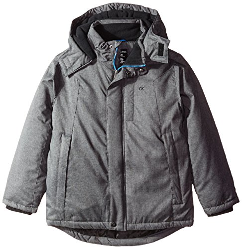 Calvin Klein Big Boys' Zenith Technical Jacket, Charcoal Heather, Large by Calvin Klein
