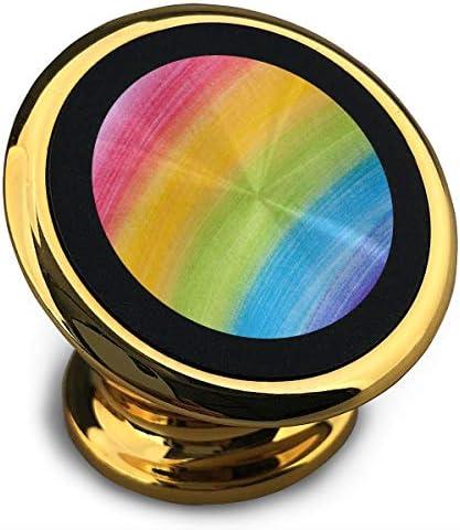 虹 携帯電話ホルダー おしゃれ 車載ホルダー 人気 磁気ホルダー 大きな吸引力 サポートフレーム 落下防止 360度回転