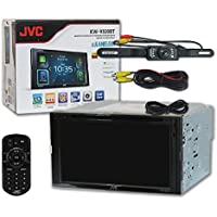 JVC KW-V830BT Double DIN 2-DIN 6.8 Touchscreen Car Apple CarPlay Android Auto DVD MP3 CD Stereo with Bluetooth & DCO Waterproof with Nightvision Backup Camera