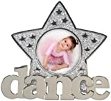 Malden International Designs Dance Glitter Star Metal Picture Frame, 3x3, Silver