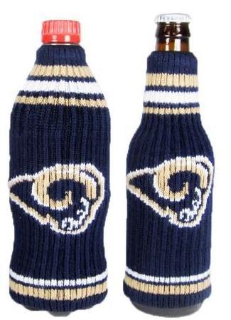 (NFL Football Krazy Kover Strecthable Can Bottle Drink Insulator Holder Cooler 2-Pack (St Louis Rams))
