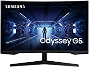 SAMSUNG 32-Inch Odyssey G5 Gaming Monitor with 1000R Curved Screen, 144Hz, 1ms, FreeSync Premium, QHD (LC32G55
