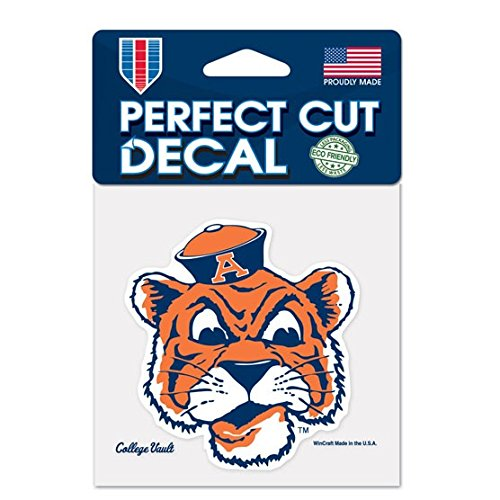 Auburn Tigers Official NCAA 4 inch x 4 inch Die Cut Car Decal by Wincraft