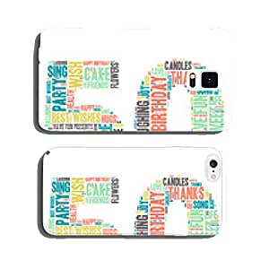 Word Cloud - Happy Birthday Celebration - 50 cell phone cover case iPhone6