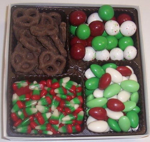 Scott's Cakes Large 4-Pack Reindeer Corn, Christmas Jordan Almonds, Christmas Malt Balls, & Dark Pretzels