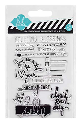 - Heidi Swapp Counting Blessings Clear Acrylic Stamps