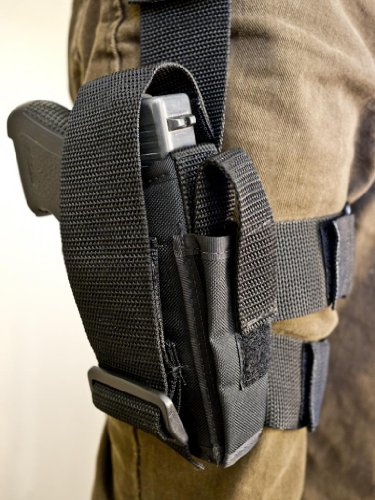 Outbags OB-30TAC (RIGHT) Nylon Tactical Drop Leg Holster - Cw40 Mag