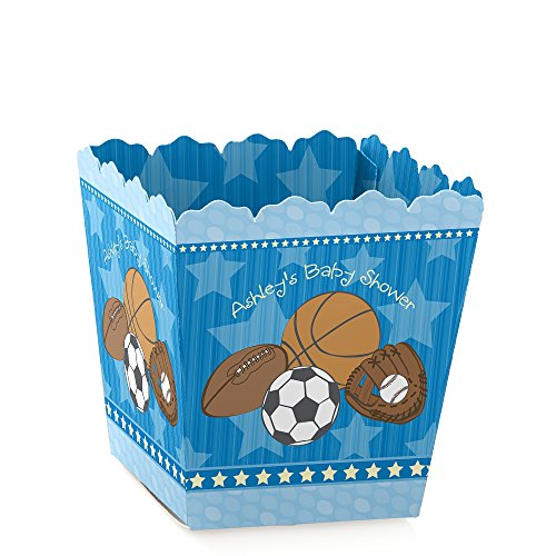 All Star Sports Toy Box - Big Dot of Happiness Personalized All Star Sports - Custom Party Favor Boxes - Baby Shower or Birthday Party Mini Treat Candy Boxes - Custom Text - Set of 12