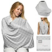 Nursing Cover, Infinity Scarf, Carseat Canopy, Breastfeeding Cover, Baby Car Seat Cover - Stretchy Multi Use Cover By Home And Trends