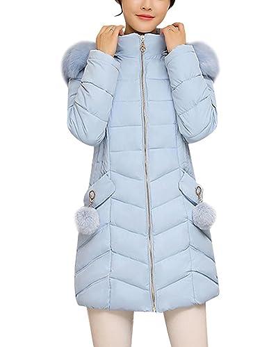 Mujer Invierno Acolchado de Pluma Largo Abrigo de Manga Larga Chaqueta Abrigos