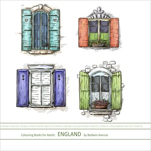 Colouring Books for Adults England: Travel Coloring Books in