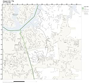 Amazon.com: ZIP Code Wall Map of Green Hill, TN ZIP Code
