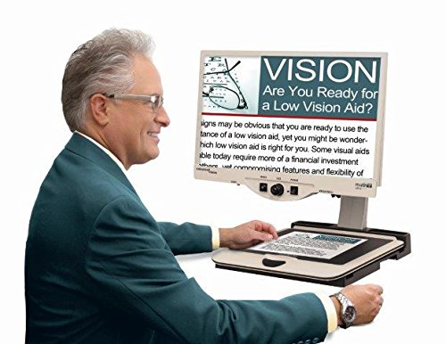 Merlin HD – Desktop Electronic Magnifier for Low Vision by MAGNIFYING AIDS