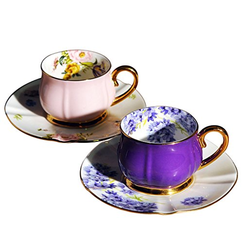 MLMHLMR Italian Bone China Espresso Cup Couple Cup Does Not Fade Coffee set ()