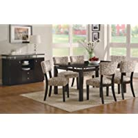 Coaster Furniture Libby Collection Cappuccino 7 Piece Dining Set(Table, 6 Side Chair)