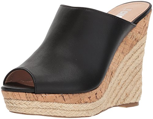 Style by Charles David Women's Angie Wedge Sandal, Black, 10 M US