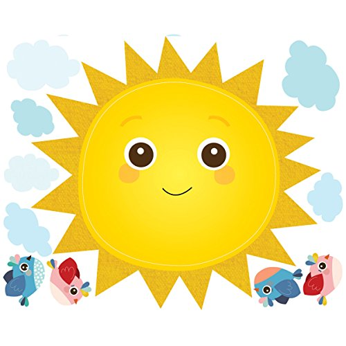 Wallies Wall Stickers - Wallies Wall Decals, Baby Sunshine Wall Stickers, Includes 2 Sheets
