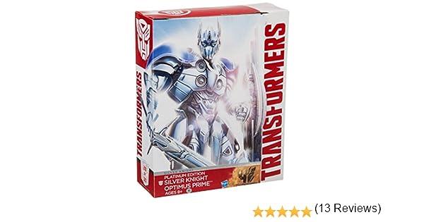 Hasbro Transformers Exclusive Platinum Edition Action Figure Silver Knight Optimus Prime: Amazon.es: Juguetes y juegos