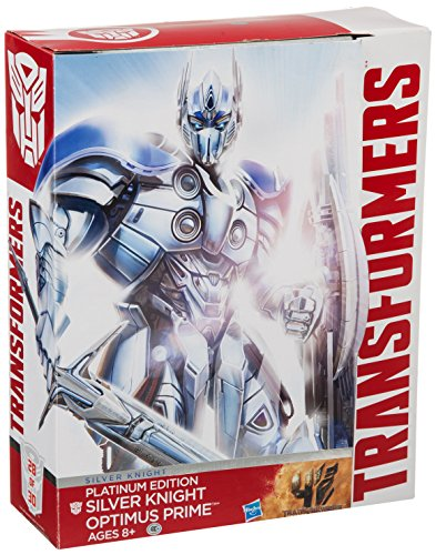 Hasbro Transformers Exclusive Platinum Edition Action Figure Silver Knight Optimus Prime -