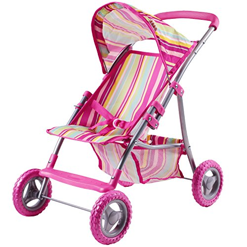 oll Stroller, Foldable Doll Pram With Hood, Lightweight Baby Strollers for Dolls With Basket And Canopy, Role Play Toys for 2, 3, 4, 5, 6 Years Old Girls, Boys, Kids, Toddlers ()