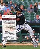 Francisco Mejia Cleveland Indians At Bat Signed Autographed 8x10 Photo JSA Certified Wp970339