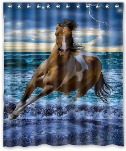KXMDXA Running Horse Waterproof Polyester Bath Shower Curtain Size 60x72 Inch