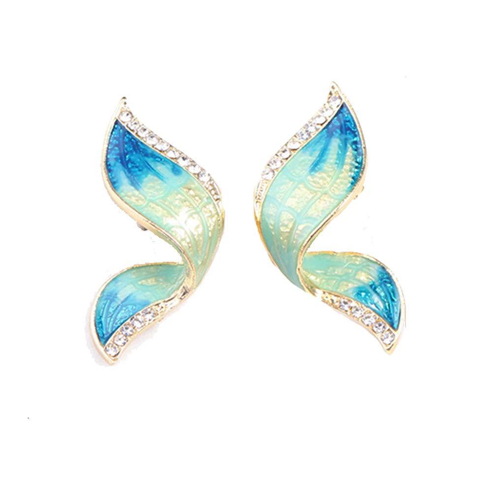 Ogquaton Animal papillon collier boucles doreilles ensembles de bijoux /émail collier boucles doreilles cadeau de mariage vert de haute qualit/é