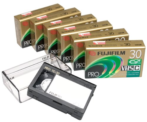 Videocassette Adapter (Fujifilm VHS-C Pro TC30 Camcorder Videocassette, 7 Pack (Discontinued by)