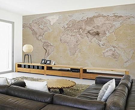 1 wall neutral world map feature wallpaper mural wood beige 315 1 wall neutral world map feature wallpaper mural wood beige 315 x 232 gumiabroncs Choice Image