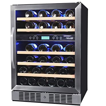 NewAir AWR-460DB 46 Bottle Built in Dual Zone Wine Cooler