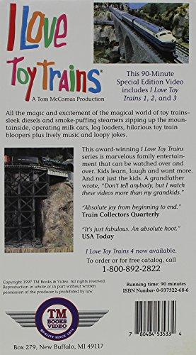I Love Toy Trains 1, 2 & 3 [VHS]
