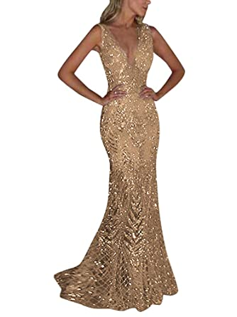 c1aa6a7c72f ShallGood Womens Long Sleeve Ruched Thigh Slit Off Shoulder Sexy Deep V  Neck Sequin Glitter Bodycon Stretchy Mini Party Dress  Amazon.co.uk   Clothing