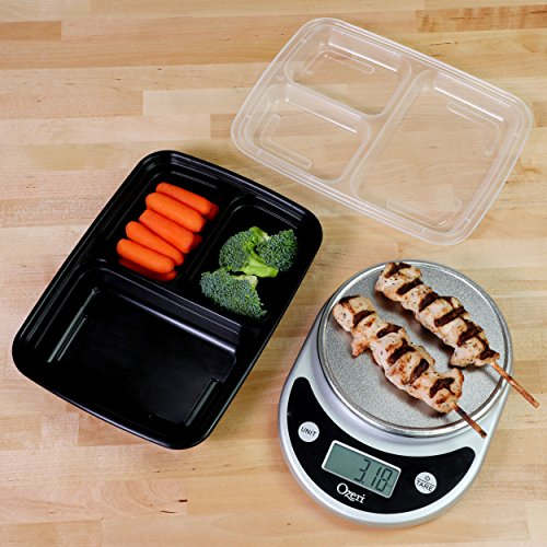 Freshware-Meal-Prep-Containers-21-Pack-3-Compartment-with-Lids-Food-Storage-Bento-Box-BPA-Free-Stackable-Lunch-Boxes-MicrowaveDishwasherFreezer-Safe-Portion-Control-21-day-fix-24-oz