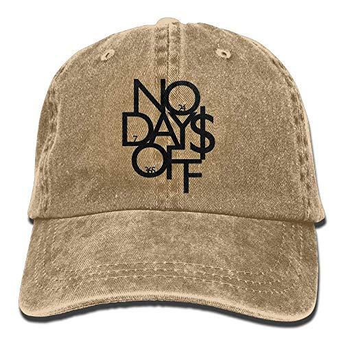 Hat No Days Off Denim Skull Cap Cowboy Cowgirl Sport Hats for Men Women