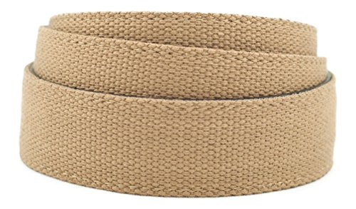 Anson Belt & Buckle Khaki Canvas - Leather Backed Strap (Strap Only) - Buckle Khaki