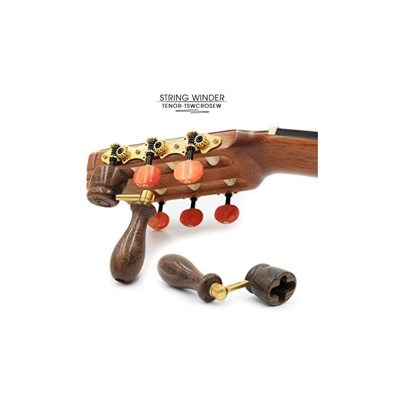 """""""ROSEWOOD"""" Handcrafted Wooden Guitar String Winder by Tenor. Designed For Classical, Flamenco, Acoustic, Electric Guitars and Ukuleles. Made Of Solid Handpicked ROSEWOOD. Beautiful Vintage Look."""