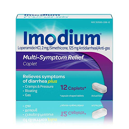 Imodium Multi-Symptom Relief Caplets 12 ea (Pack of 3)