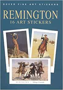 Amazon Com Remington 16 Art Stickers Dover Art Stickers