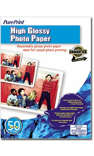 PurePrint High Glossy Photo Paper - 8.5inx11in (50 Sheets)
