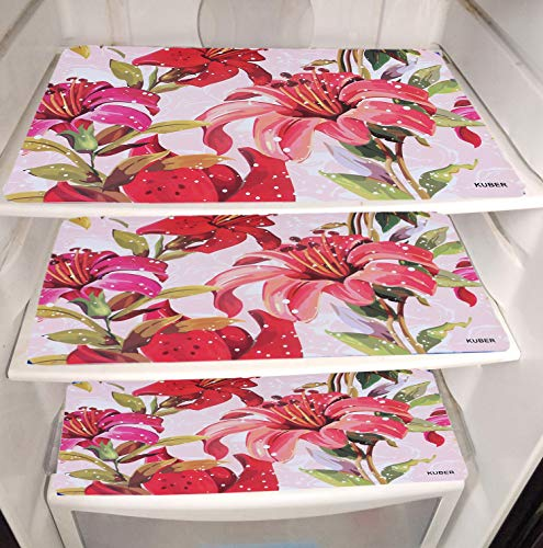 Kuber Industries Flower Design PVC 6 Pieces Refrigerator Drawer Mats (Pink), CTKTC13671 Price & Reviews