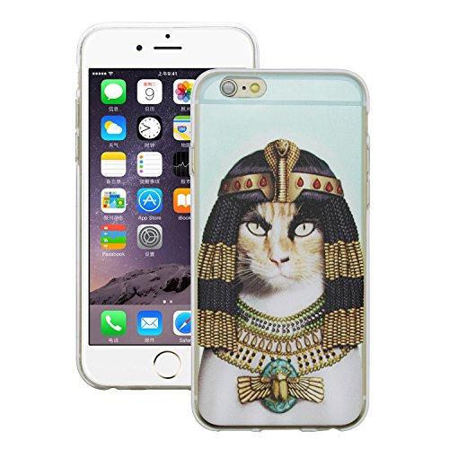"iprotect Housse de protection Soft Case - Édition Cléopatre Chat édition bleu clair - Apple iPhone 6 (4,7"")"