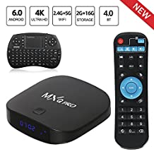 Leelbox MXQ Pro Android 6.0 TV BOX 4K/2+16GB/2.4G+5G Wifi/BT 4.0 android tv box Support 4K/Full HD/H.265 with mini keyboard