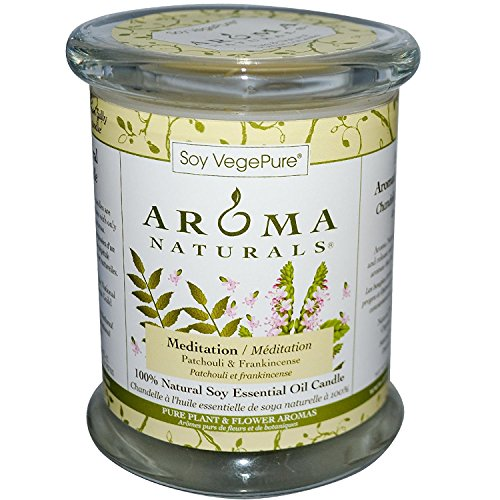 Soy VegePure, 100% Natural Soy Pillar Candle, Meditation, Patchouli & Frankincense, 8.8 oz (260 g)