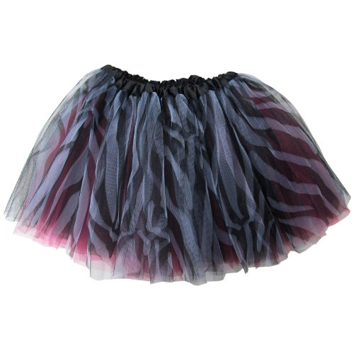 Zebra Costume Dance (Ballerina Basic Girls Dance Dress-Up Princess Fairy Costume Dance Recital Tutu (Zebra Hot Pink))