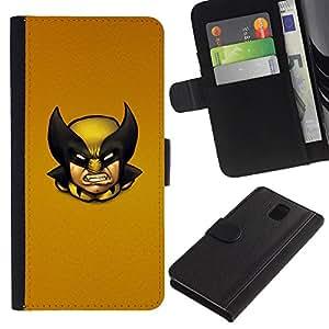 UNIQCASE - Samsung Galaxy Note 3 III N9000 N9002 N9005 - Wolv Vintage X Superhero - Cuero PU Delgado caso cubierta Shell Armor Funda Case Cover